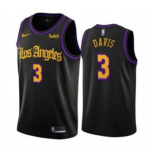 Los Angeles Lakers Anthony Davis Black Jersey